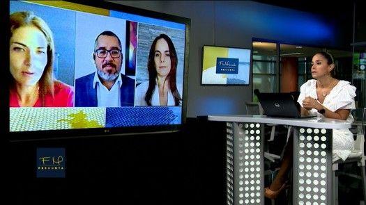 Flor Mizrachi Pregunta: Aida Alfaro de Excelencia Educativa; Arturo Rebollón, epidemiólogo; y  Geraldine Norte, pediatra