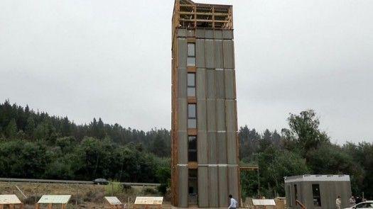 Edificio de madera más alto de América Latina está en Chile