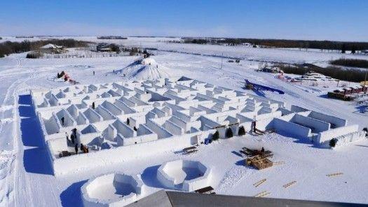 Canadá tiene el mayor laberinto de nieve del mundo