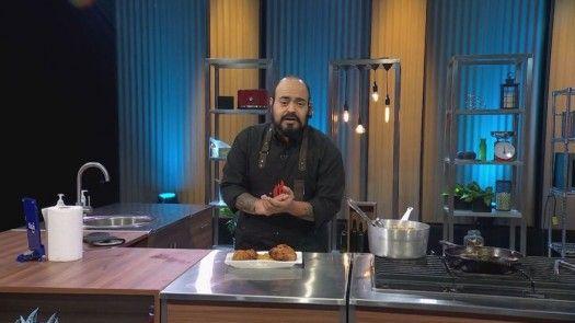 Pollo frito con puré de camote al estilo de Arturo Illueca