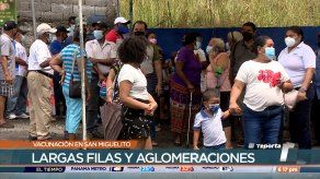 Se agotan dosis durante vacunación en San Miguelito