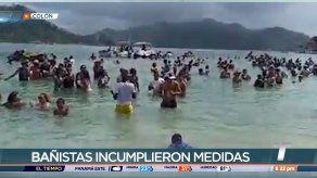 Bañistas incumplen medidas de bioseguridad en Colón