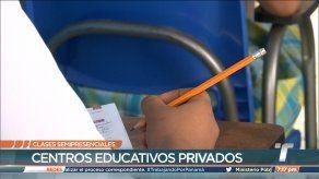 Colegios particulares inician clases semipresenciales de forma gradual