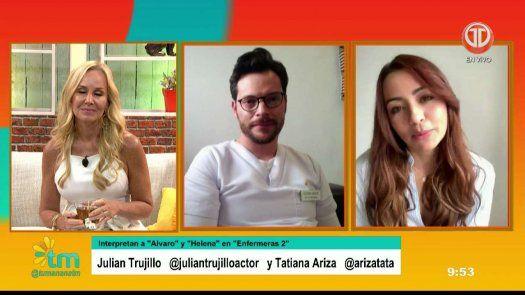 Enfermeras 2: Jullián Trujillo y Tatiana Ariza, los giros de la 2da temporada