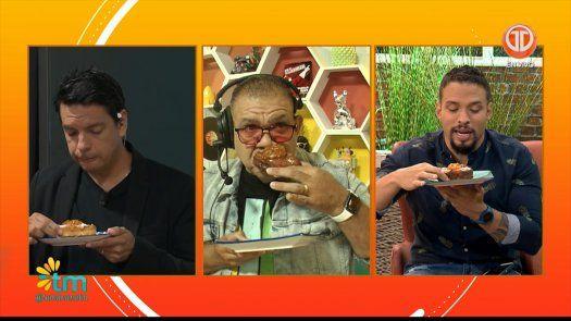 Chef Sergio Landero les juega una broma a Rolo, Ramiro y Roly, comen esponja sin darse cuenta