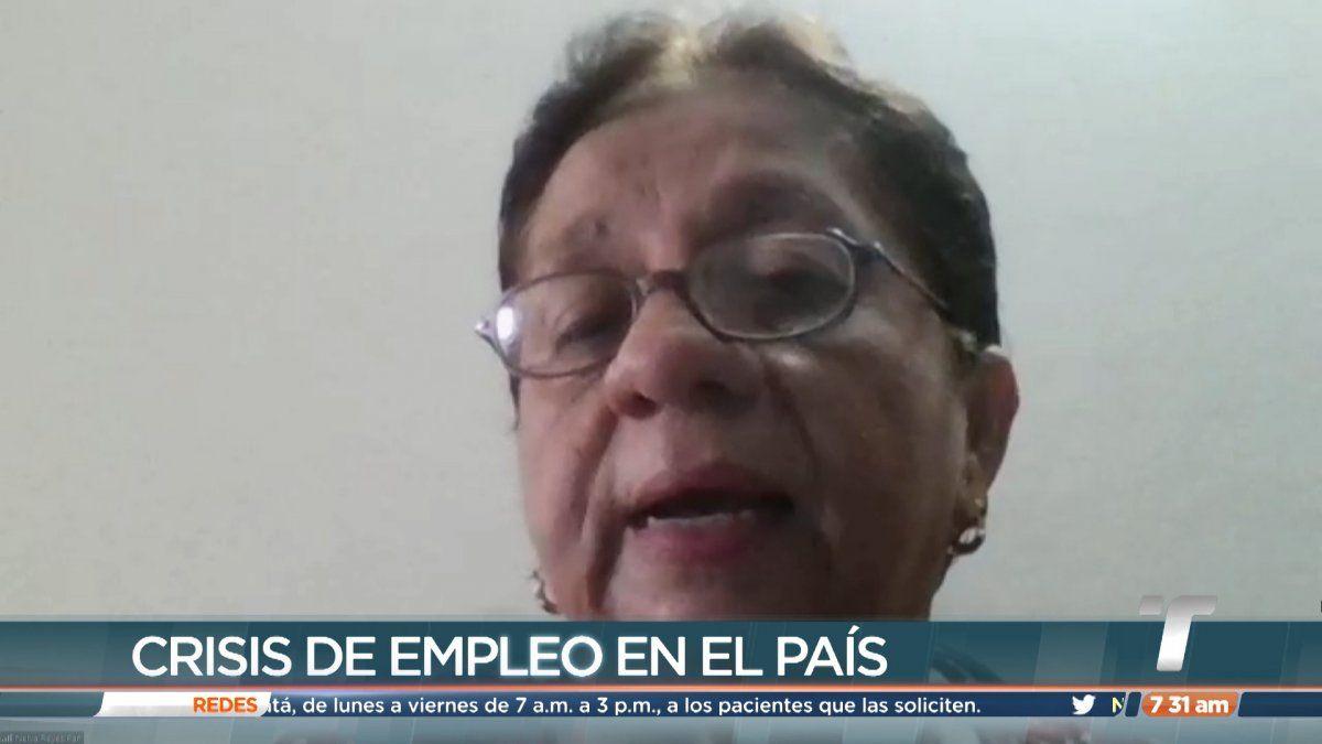 Nelva Reyes habla de la situación del empleo en el país