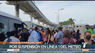 Cientos de panameños se vieron afectados por la falla eléctrica que se presentó en la Línea 1 del Metro