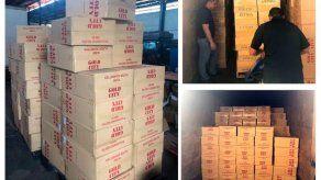 Decomisan pacas de cigarrillos de contrabando valoradas en más de 750 mil dólares
