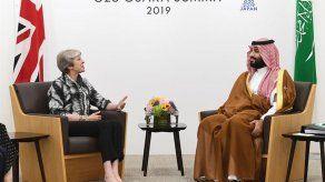 May pide transparencia al príncipe saudí sobre el asesinato de Khashoggi