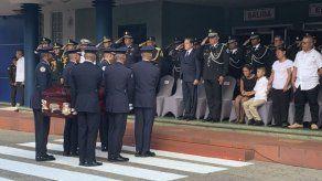 Rinden honores y dan último adiós a unidad de la policía que falleció en accidente de tránsito