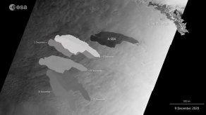 Un iceberg gigante se acerca a la isla de San Pedro