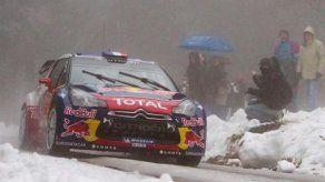 Loeb cerca de la victoria en rally de Montecarlo