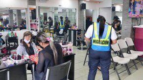 Detectan a 13 extranjeros irregulares trabajando en salones de belleza