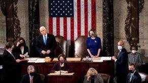 Pence dice a seguidores de Trump que asaltaron al Congreso: No han ganado