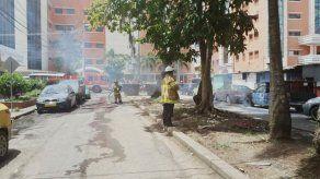 Se incendian cables eléctricos cerca del Hospital Santo Tomás