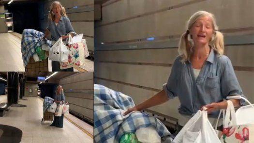 Video policial de indigente cantando opera en metro de Los Ángeles se hace viral