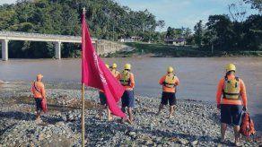Sinaproc coloca bandera roja en playas y ríos a nivel nacional ante condiciones climáticas