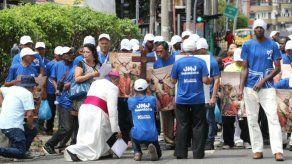 Realizan Viacrucis con personas en situación de calle en conmemoración del Viernes Santo