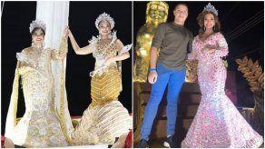 Reinas de Calle Arriba y Calle Abajo del Carnaval de Chitré son coronadas