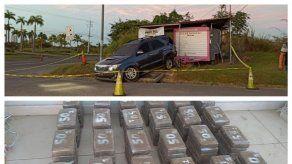 Policía incauta más de 100 paquetes de droga en San Carlos