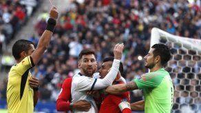 Messi expulsado en partido por tercer lugar