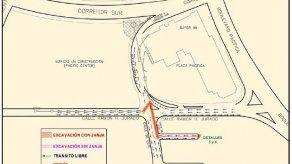 Inhabilitarán carril de entrada al Corredor Sur a partir de este lunes