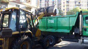 Operativos de recolección de enseres en los edificios Los Libertadores