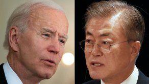 El presidente de Corea del Sur, Moon Jae-in y el presidente de Estados Unidos, Joe Biden.