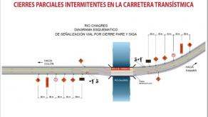 Harán cierres parciales intermitentes en la vía Transístmica del 4 abril al 10 de mayo
