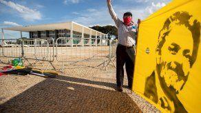 Simpatizante del expresidente brasileño Lula Da Silva.