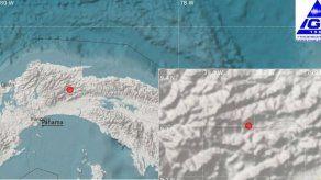 Se registra sismo en Panamá de magnitud 3.8