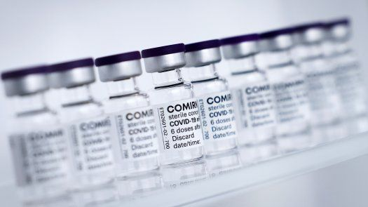 Frascos con la vacuna de Biontech/Pfizer contra la covid-19.