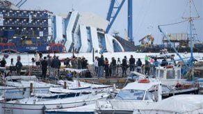 Inicia operación para enderezar el Costa Concordia