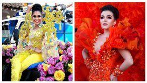 Las reinas de Calle Arriba y Calle Abajo de Las Tablas celebran fiestas patrias