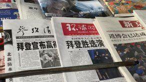 China indica que esperará para felicitar a Biden