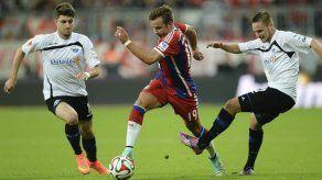 Bayern golea 4-0 al Paderborn y ya es líder en solitario de la Bundesliga