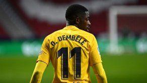 Dembélé sufre una lesión muscular en el muslo derecho