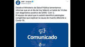 COVID-19 muere un bebé en Uruguay