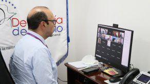 El Defensor del Pueblo de Panamá, Eduardo Leblanc, participo de la reunión virtual.