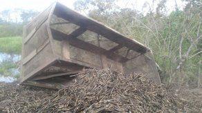 Articulado cargado de caña se vuelca en Chiriquí