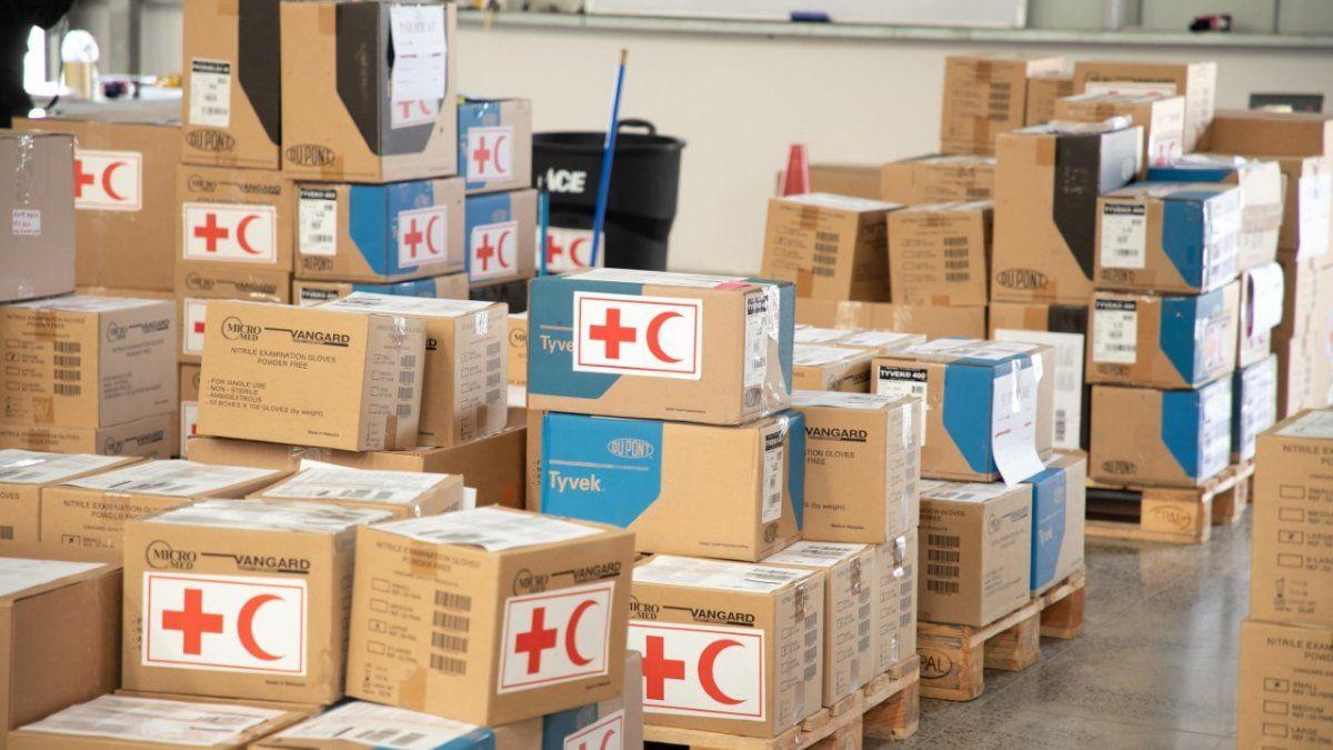 De la ayuda humanitaria el 872.6 toneladas con un importe de 26.6 millones de dólares fue destinada a la lucha contra el Covid-19 en el Centro Logístico Regional de Asistencia Humanitaria (CLRAH).