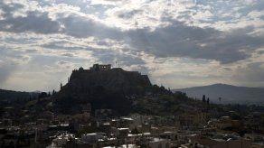 Cae relámpago en la Acrópolis de Atenas