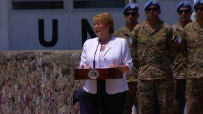 Bachelet garantiza a presidente Haití apoyo de Chile tras retirada de tropas