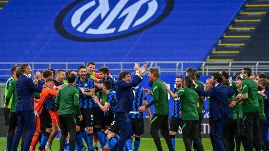 Serie A: Inter celebra su título con goleada a Sampdoria
