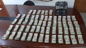 Unidadesde la Policía Nacional incautaron 178 mil 398 dólares a organizaciones criminales durante el mes de marzo.