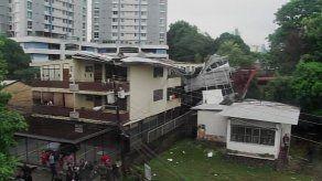 Al menos seis familias serán trasladadas tras desprendimiento de techo en Carrasquilla