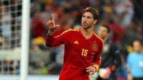 Sergio Ramos se lleva una tarjeta amarilla por dedicarle un gol a su sobrino