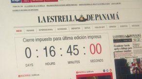 Diarios El Siglo y La Estrella de Panamá inician conteo para última edición impresa