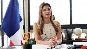 La ministra de Relaciones Exteriores, Erika Mouynes.