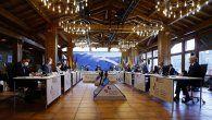 Un momento de la sesión plenaria de jefes de Estado y de Gobierno de Iberoamérica, como parte del programa de la XXVII Cumbre Iberoamericana, en Soldeu, Andorra.